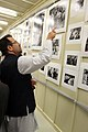Helmand provincial Gov. Mohammad Gulab Mangal looks at the photo gallery inside the Afghan Cultural Center at Camp Leatherneck in Helmand province, Afghanistan, Aug. 7, 2012 120807-M-KH643-004.jpg
