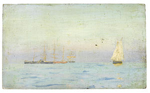 Henry Scott Tuke - Boats on a calm sea.jpg