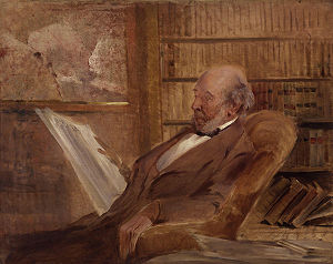 Herbert Spencer - Portrait of Spencer by Hamilton, ca. 1895