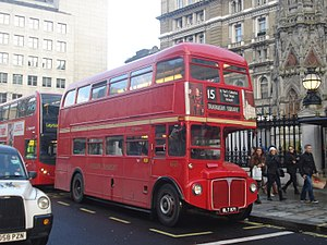 London Buses route 15 (Heritage) - Stagecoach London AEC Routemaster in February 2014
