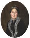 Herman Siegumfeldt Portræt af Maria baronesse Caroline Vilhelmine Bille Brahe, née Moltke - 1883.png