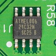 Hewlett-Packard JetDirect 170X - board - Atmel 24C32N-2506.jpg
