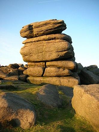 Higger Tor - A millstone grit boulder on Higger Tor