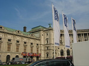 Organization for Security and Co-operation in Europe - OSCE Permanent Council venue at the Hofburg, Vienna.