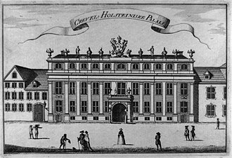 Jacob Fortling - The Holstein Mansion in Copenhagen, engraving from 1762