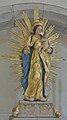 Holzstatue der Jungfrau Maria in der St. Magdalena Kirche Tagusens Kastelruth.jpg