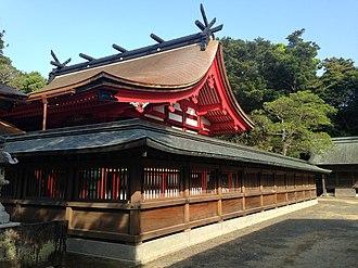 Munakata Taisha - Hetsu-no-Miya Honden of 1578 (ICP)