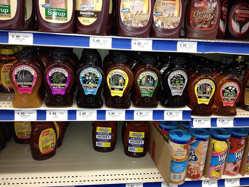 File:Honey selection at supermarket.jpeg