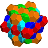 Honeycomb of regular dodecahedra-cubes-J91