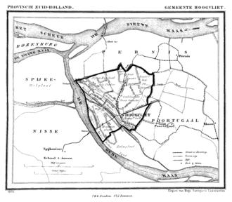 Hoogvliet - Hoogvliet in 1866.