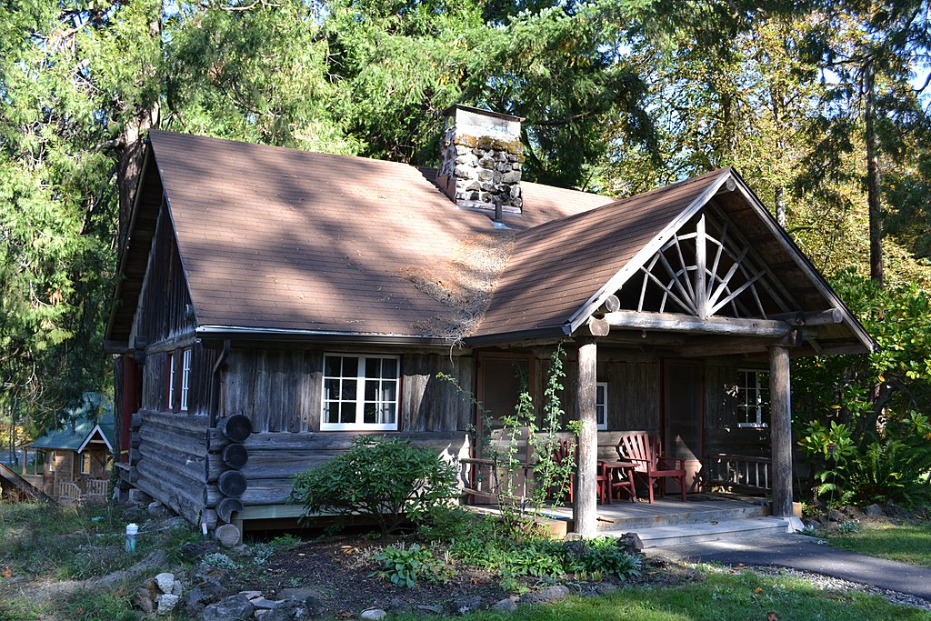 File Hoover Cabin Log Cabin Inn Mckenzie Bridge Oregon