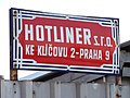 Hotliner, firemní tabule.jpg