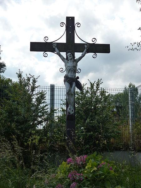 Houlle (Pas-de-Calais) croix de chemin Les Marnières