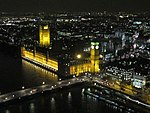 Houses of Parliament from the London Eye at night (geograph 2785698).jpg