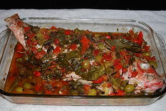 Cuisine of Veracruz - Huachinango a la veracruana (Snapper Veracruz style)
