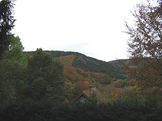 Battle of Hürtgen Forest - View to the west over the Kall Valley.
