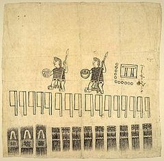 Una raffigurazione nahua dell'invasione spagnola del 1531