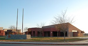 Huron, California - Huron Middle School, shown c. 2007
