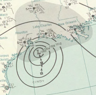 Tropical Storm Cindy (1963) Atlantic tropical storm in 1963