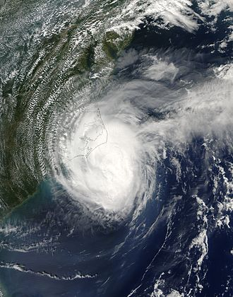 2005 Atlantic hurricane season - Hurricane Ophelia off the coast of North Carolina