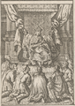 I. József király koronázása Pozsonyban, 1687 - részlet, aranysarkantyús lovagok avatása.png