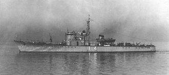 No.13-class submarine chaser - Image: IJN No 14 Submarine Chaser 1941