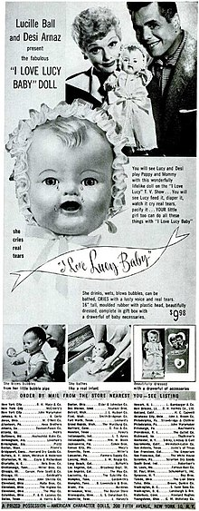 I Love Lucy baby doll, introduced in 1952