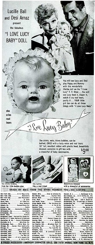American Character Doll Company - I Love Lucy baby doll, introduced in 1952