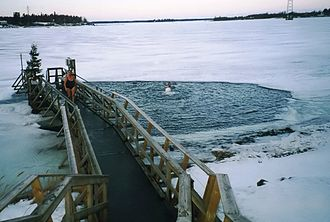 Winter swimming - Ice swimming in Finland