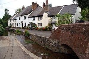 Ide, Devon - The ford in College Lane, Ide.