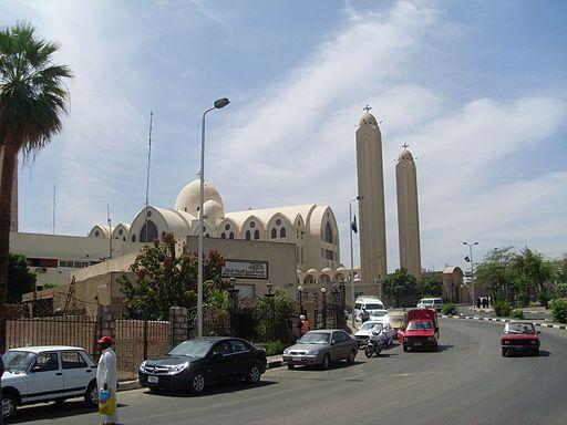 Iglesia copta de Asuán, arcángel Miguel, Egipto, abril de 2009