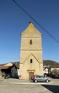 Illfurth, Vestiges du clocher de la chapelle Saint-Nicolas.jpg