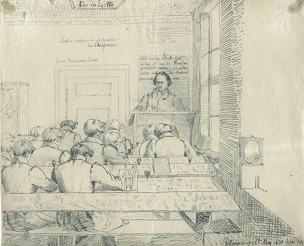 Im Kolleg bei Jacob Grimm 1830.jpg