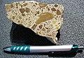 Impact breccia (Eocene, 39 Ma; Haughton Impact Structure, Devon Island, northern Canada) 1 (16839661086).jpg