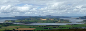 Inch Island - Inch island from Grianan of Aileach