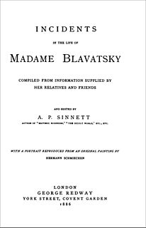 <i>Incidents in the Life of Madame Blavatsky</i> book