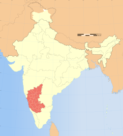 Location of Karnataka
