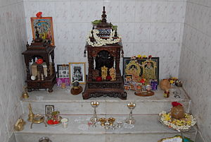 English: Pooja room in an Indian home