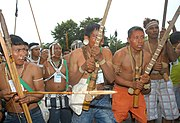 Indian protesters from Vale do Javarí in Belém 2009 1530FP8886.jpg