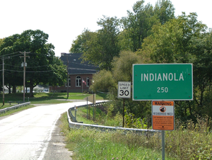 Indianola, Illinois - Indianola from the northeast