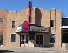 Art Deco style Inland Theater at Martin SD.