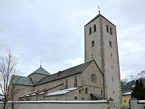Innichen Abbey - Façade of the collegiate church