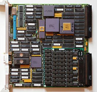 Multibus - Intel iSBC 386/116 Multibus II Single Board Computer with VLSI A82389 as Multibus Controller.