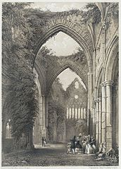 Interior of Tintern Abbey, Monmouthshire (Looking West)