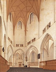Interior of the Choir of Saint Bavo's Church at Haarlem