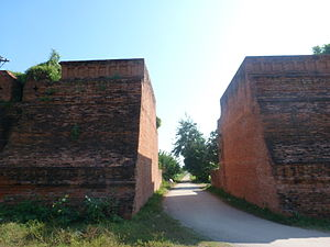 Inwa - Remains of the outer walls