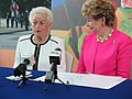 Irene Perez Ploke Sgambelluri and Madeleine Bordallo news conference.jpg