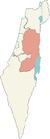 מפת מחוז יהודה ושומרון