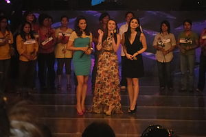 It's Showtime (variety show) - Karylle (left) and Anne Curtis (right), with guest co-host Angelica Panganiban