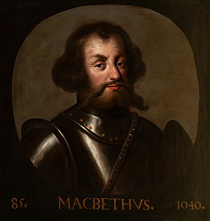 Macbeth, King of Scotland 11th-century King of Scotland